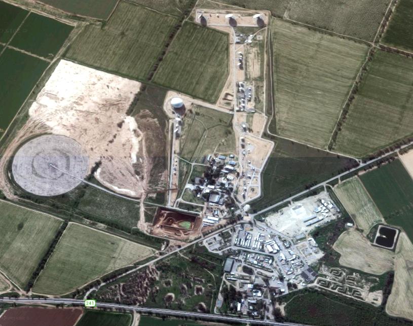 Base de Urim (desierto de Néguev). Fuente: Google Maps