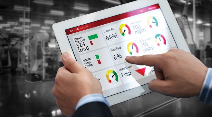 Figura 2: Anónimo, Dashboard de uno de los productos de industria 4.0 de Rockwell Automation, Rockwell Automation.