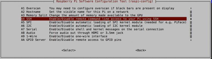 Imagen 1: Configuración Raspberry Pi